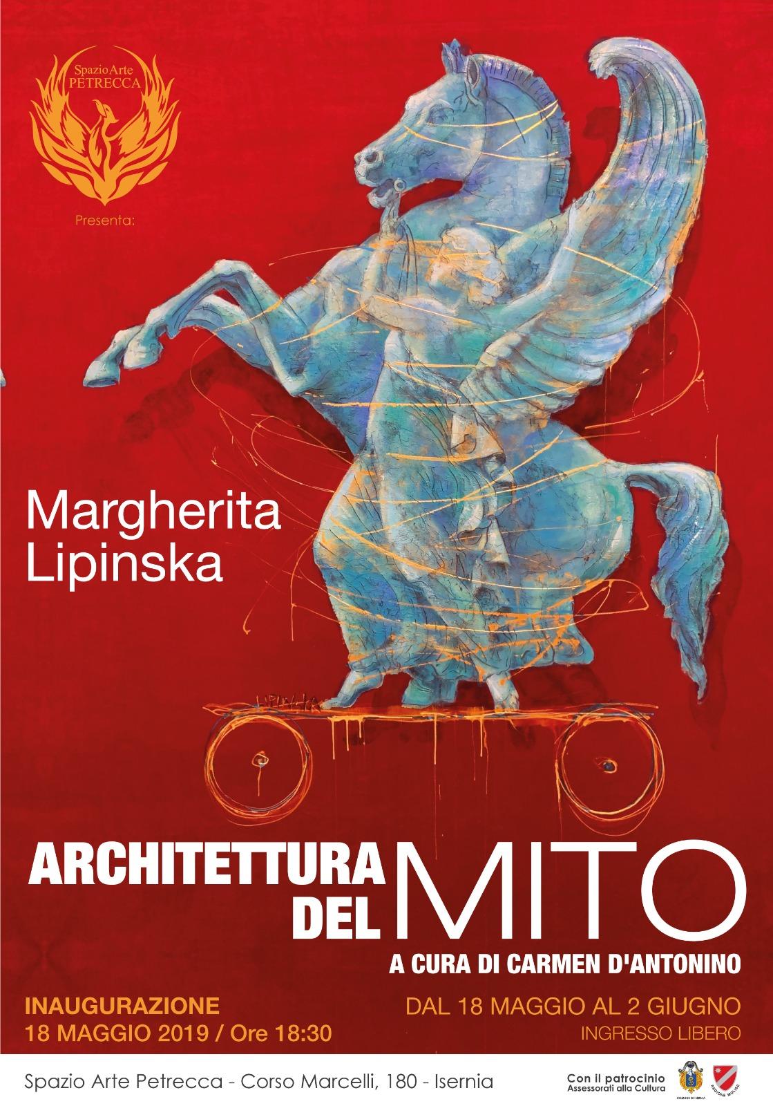 Locandina mostra architettura del mito, Isernia
